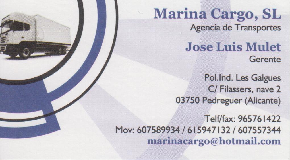 MARINA CARGO S.L.