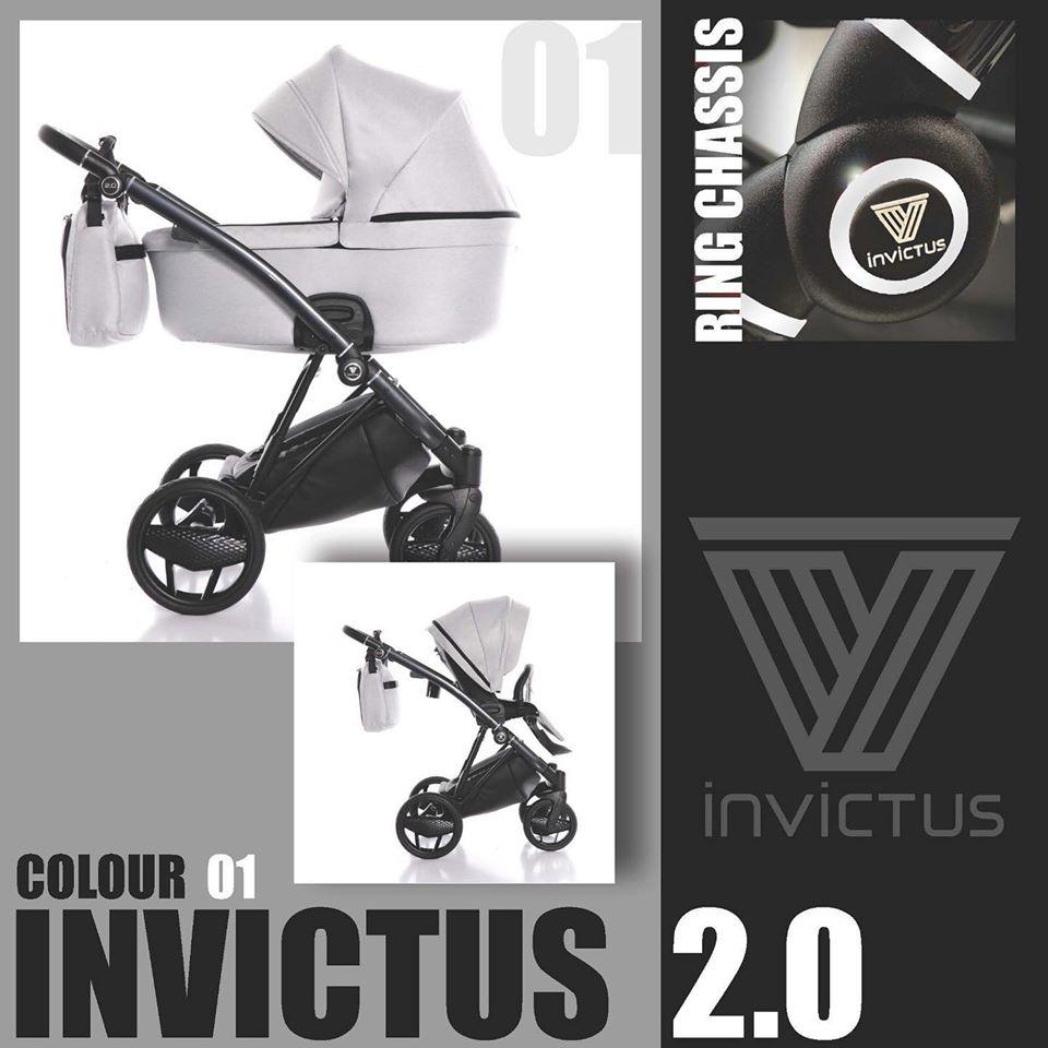 Cochecito Invictus 2.0 Antracita Right Duo 01 Light Grey