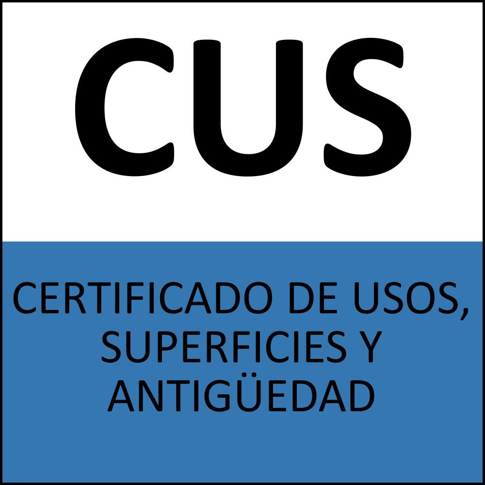 CERTIFICADO DE USOS, SUPERFICIES Y ANTIGÜEDAD