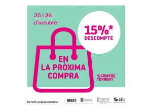 15% DE DESCOMPTE EN EL %COMERÇ TORRENT