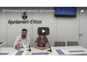 Ajudes per a la promoció del valencià a Alcoi a través del comerç