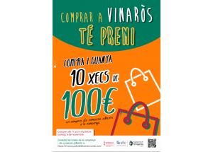 """Comercio pone en marcha una nueva edición de """"Comprar a Vinaròs té premi"""" con 1.000€ en cheques"""
