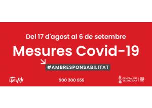Nuevas medidas Covid-19 hasta 6 de septiembre