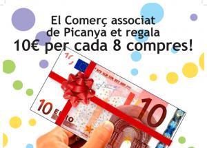 El comerç associat de Picanya et regala 10€ per cada 8 compres! - PASAPORTE COMPRAS