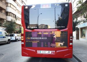 La promoció de la fira Modernista ha arribat als autobusos d'Alacant