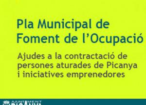 CONVOCATORIA PLAN DE FOMENTO DEL EMPLEO LOCAL 2019 - PICANYA - abierto plazo