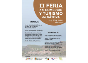 II FERIA DEL COMERCIO Y TURISMO DE GÁTOVA 15 Y 16 DE JUNIO DE 2019