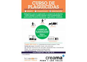 Creama Afic Pego organitza un Curs per a la Renovació del carnet de Manipulador de Plaguicides