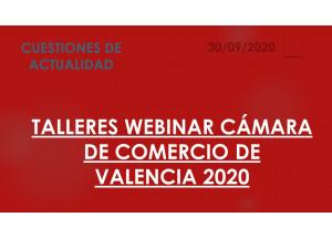 TALLERES WEBINAR 2020 CÁMARA DE COMERCIO DE VALENCIA