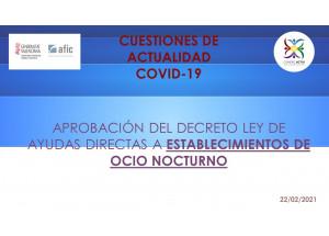 APROBACIÓ PEL CONSELL DEL DECRET LLEI D'AJUDES A ESTABLIMENTS PUBLICS D'OCÍ NOCTURN