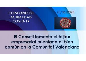 El Consell fomenta el tejido empresarial orientado al bien común en la Comunitat Valenciana