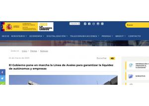 Línea de Avales  y financiación Real Decreto-ley 8/2020, de 17 de marzo
