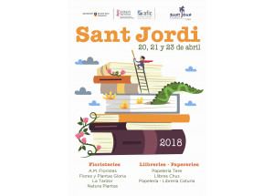 DÍA DE SANT JORDI  2018 EN SANT JOAN D'ALACANT: EL LIBRO Y LA ROSA