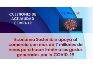 Economía Sostenible apoya al comercio con más de 7 millones de euros para hacer frente a los gastos generados por la COVID-19