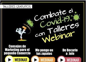 Combate el Covid-19 con talleres webinar