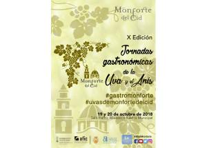 PRESENTACIÓN X JORNADAS GASTRONÓMICAS DE LA UVA Y EL ANÍS DE MONFORTE DEL CID