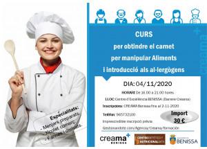 Nueva edición del curso en Creama Benissa para obtención del carnet para manipular alimentos.