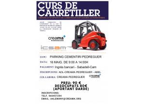 Creama Pedreguer organiza una nueva edición del curso para la obtención del Carné de CARRETILLERO