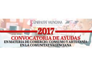 CONVOCATORIA DE AYUDAS Y SUBVENCIONES COMERCIO Y CONSUMO 2017