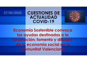 Economía Sostenible convoca las ayudas destinadas a la promoción, fomento y difusión de la economía social en la Comunitat Valenciana