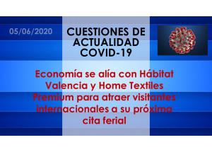 Economía se alía con Hábitat Valencia y Home Textiles Premium para atraer visitantes internacionales a su próxima cita ferial