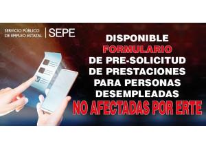 FORMULARIO DISPONIBLE PRE-SOLICITUD DE PRESTACIONES