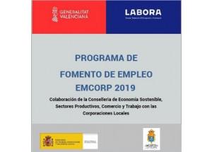 LABORA- SERVEI VALENCIÀ D'OCUPACIÓ I FORMACIÓ CONCEDEIX UNA SUBVENCIÓ PLA AVALEM EXPERIÉNCIA: EMCORP 2019