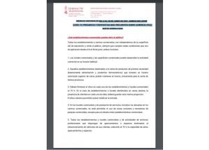 Medidas adicionales COVID-19 sobre actividad comercial. Del 8 al 30 de junio de 2021