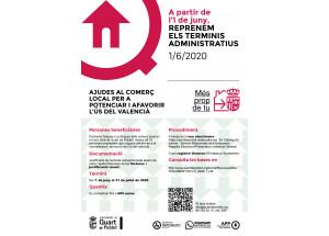 AYUDAS AL COMERCIO LOCAL DE QUART DE POBLET PARA POTENCIAR Y FAVORECER EL USO DEL VALENCIANO 2020.