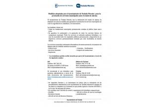 Medidas de control Ayuntamiento de Teulada