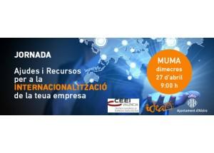 Jornada ALZIRA 27/04/16: Ayudas y Recursos para la internacionalización de tu empresa