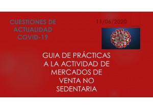GUIA DE PRÀCTIQUES A l'ACTIVITAT DE MERCATS DE VENDA NO SEDENTÀRIA