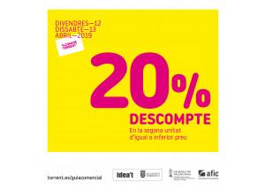 20% DE DESCOMPTE AL COMERÇ DE TORRENT