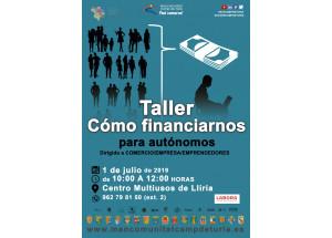1 de julio a las 10h en la Mancomunitat Camp de Túria (sala Multiusos de Llíria): Taller sobre financiación para autónomos