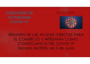 AJUDES DIRECTES PER A COMERÇ I ARTESANIA COM A CONSEQÜÈNCIA DEL COVID-19
