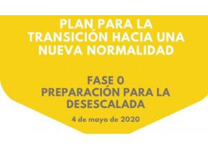 PLAN PARA LA TRANSICIÓN HACIA UNA NUEVA NORMALIDAD: FASE 0