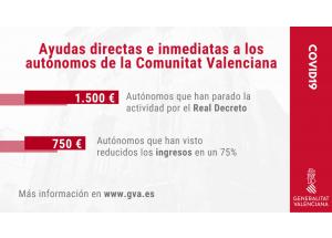 AYUDAS DIRECTAS E INMEDIATAS A LOS AUTÓNOMOS DE LA COMUNITAT VALENCIANA