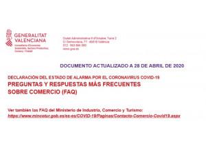 Preguntas y respuestas más frecuentes sobre comercio COVID-19 actualizado 28 de abril