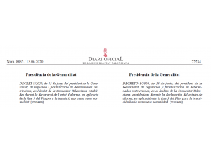Regulació i flexibilització de determinades restriccions, en l'àmbit de la Comunitat Valenciana. Fase 3