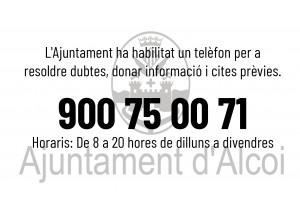 Medidas del Ayuntamiento de Alcoy para evitar la propagación del Covid 19