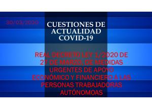 DECRETO LEY 1/2020 DE 27 DE MARZO