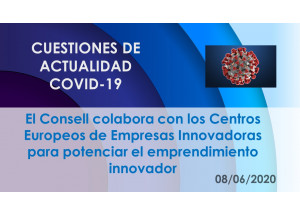 El Consell colabora con los Centros Europeos de Empresas Innovadoras para potenciar el emprendimiento innovador