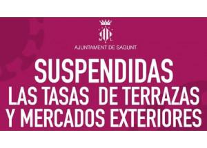 SUSPENSIÓN DE TASAS EN TERRAZAS Y MERCADOS EXTERIORES