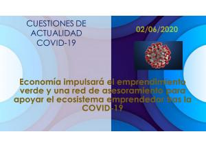 Economía impulsará el emprendimiento verde y una red de asesoramiento para apoyar el ecosistema emprendedor tras la COVID-19