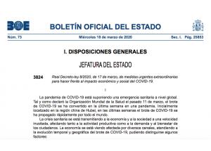 REIAL DECRET LLEI 8/2020, DE 17 DE MARÇ, DE MESURES URGENTS EXTRAORDINÀRIES PER A FER ENFRONT DE L'IMPACTE ECONÒMIC I SOCIAL DEL COVID-19.