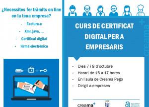 Curso en Pego de Certiifcado Digital para empresas