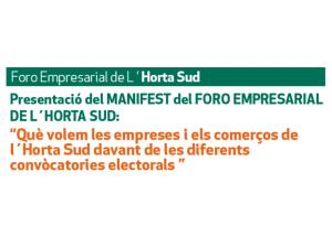 Que volem el comerços i les empreses de l'Horta Sud davant les convocatòries electorals