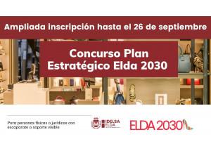 PLAN ESTRATÉGICO ELDA2030: IDELSA AMPLÍA HASTA EL 26 DE SEPTIEMBRE EL PLAZO DE INSCRIPCIÓN PARA LOS COMERCIOS ELDENSES QUE DESEEN PARTICIPAR EN EL CONCURSO #Elda2030