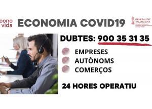 La Consellería de Economía habilita este teléfono 900353135 para atender dudas de empresas autónomos y comercios