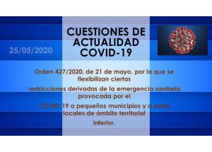 FLEXIBILITZACIÓ DE CERTES RESTRICCIONS DERIVADES DEL COVID-19